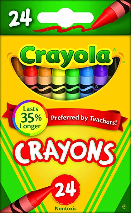 Amazoncom Crayola Crayons Set of 24 Each Childrens Crayons