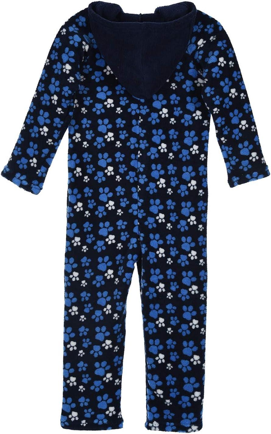 La Pat Patrouille Pyjama Combinaison Polaire /à Capuche Enfant gar/çon Beu Marine de 3 /à 6ans
