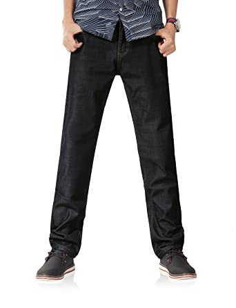 d3b29150fb503 Demon&Hunter Herren Straight Leg Jeanshose, Einfarbig