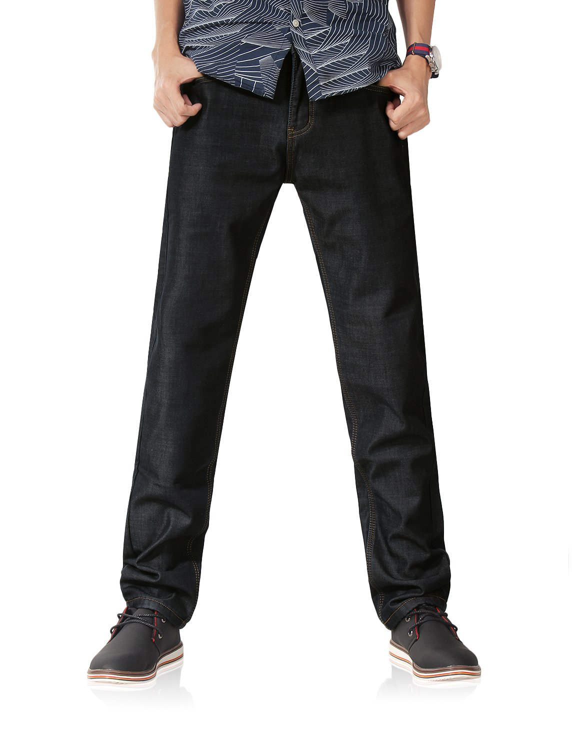 Demon hunter 801 Series Men's Fleece Lined Straight Leg Jeans DH8001(29)