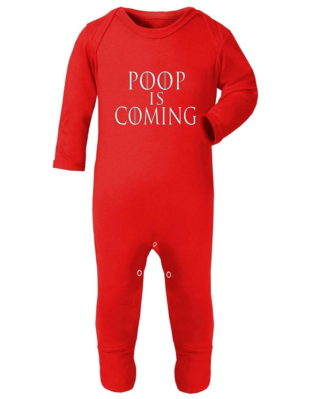 Game of Thrones Poop is Coming Rompersuit Baby Grow RED (0-3 Months) ICKLE PEANUT