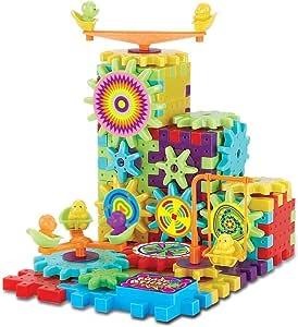 babyGreen Juegos de bloques de construcción de engranajes,Juguete educativo para niños de 3-7 años Puzzle de múltiples colores y formas 81 piezas Regalos de Navidad: Amazon.es: Juguetes y juegos