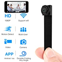 Spy Hidden Camera, Wireless Wi-Fi Camera 1080P APP Mini Portable Covert Security Cam Motion Detection for iOS/Android Mobile Phone