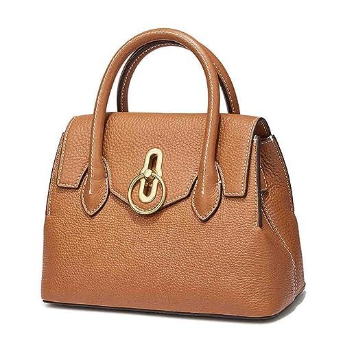 4a734a2ae9dd Amazon.com: QIWANG Fashion Lady Genuine Leather Shoulder Bag Handbag ...