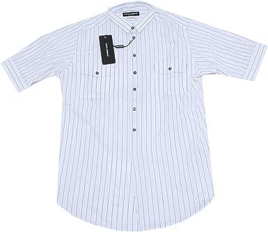 Dolce & Gabbana - Camisa Casual - para Hombre Blanco Bianco/Grigio X-Large: Amazon.es: Ropa y accesorios