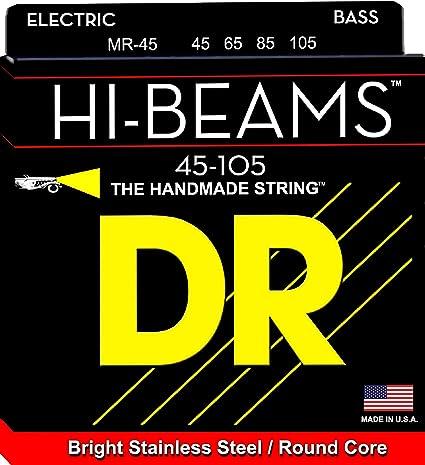 Dr Hi Beam Medium Bass Guitar Strings Mr 45 Amazon Co Uk Musical Instruments