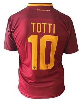 Camiseta de fútbol para niños o adolescentes, Roma, Francesco Totti, 10, réplica autorizada, 2017-20108, niños, adolescentes, Größe XLarge: Amazon.es: ...