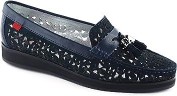 Marc Joseph NY Women's Fashion Shoes Brooklyn Nobuck Loafer