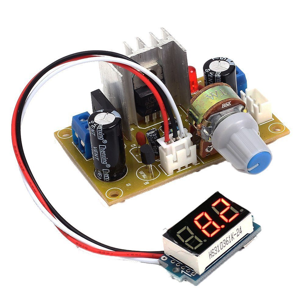 Icstation Lm317 Digital Adjustable Ac Dc To Voltage Understanding This Led Driver Circuit Electrical Engineering Regulator Step Down Power Supply Buck Converter Module 3 30v 125 20v Industrial