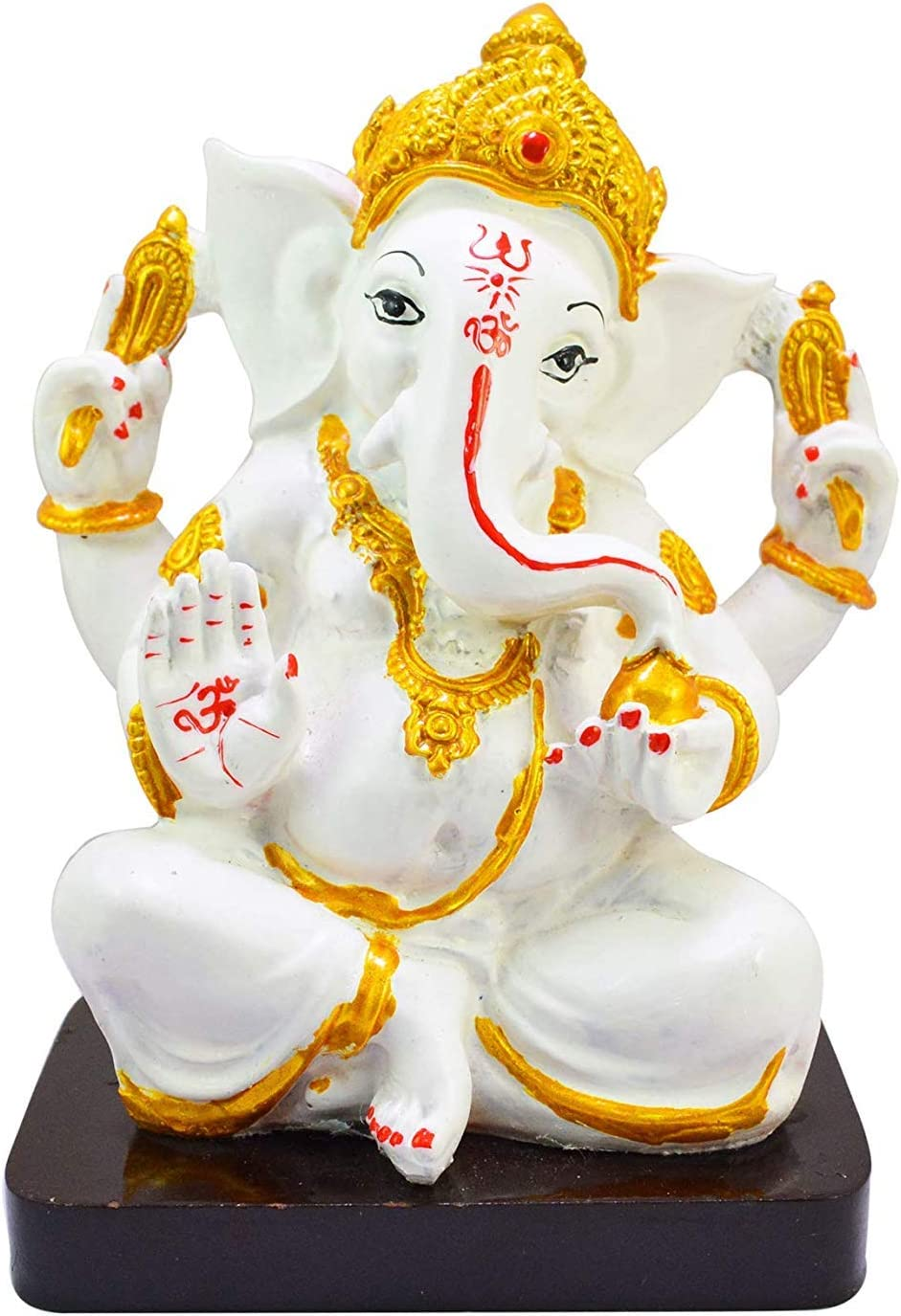 Amazon Com G Looks Handmade Lord Ganesha White Copper Color