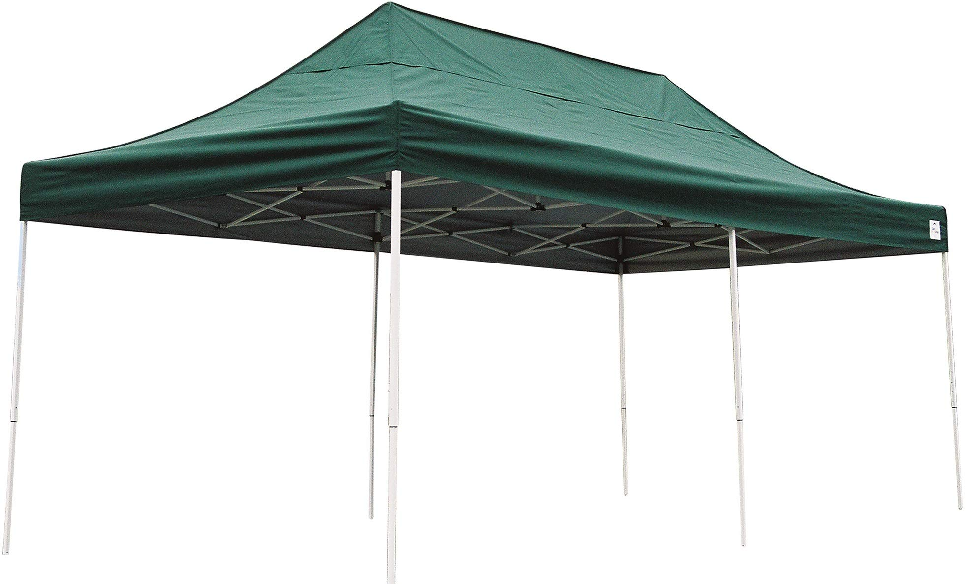 ShelterLogic Easy Set-Up 10 x 20-Feet Straight Leg 50+ UPF Protection Pop-Up Canopy with Roller Storage Bag for the Beach, Park, Tailgating, and Other Outdoor Activities, Green