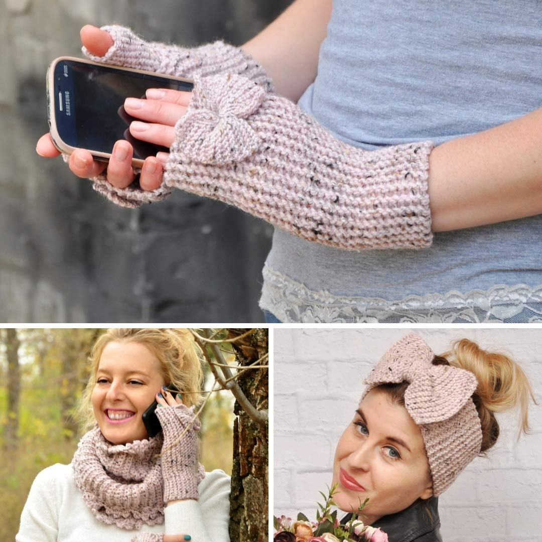 Chunky Hand-Kitted Mittens Gloves