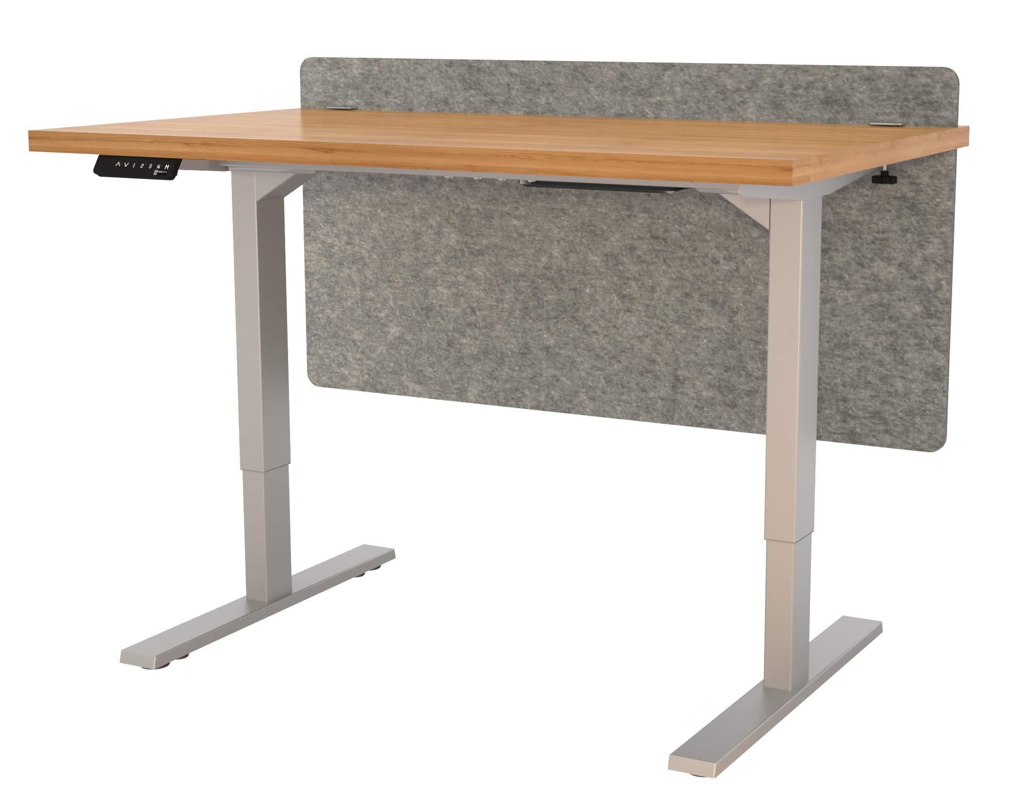 "VaRoom Acoustic Partition, Sound Absorbing Desk Divider – 48"" W x 24""H Privacy Desk Mounted Cubicle Panel, Ash Grey by VaRoom (Image #6)"