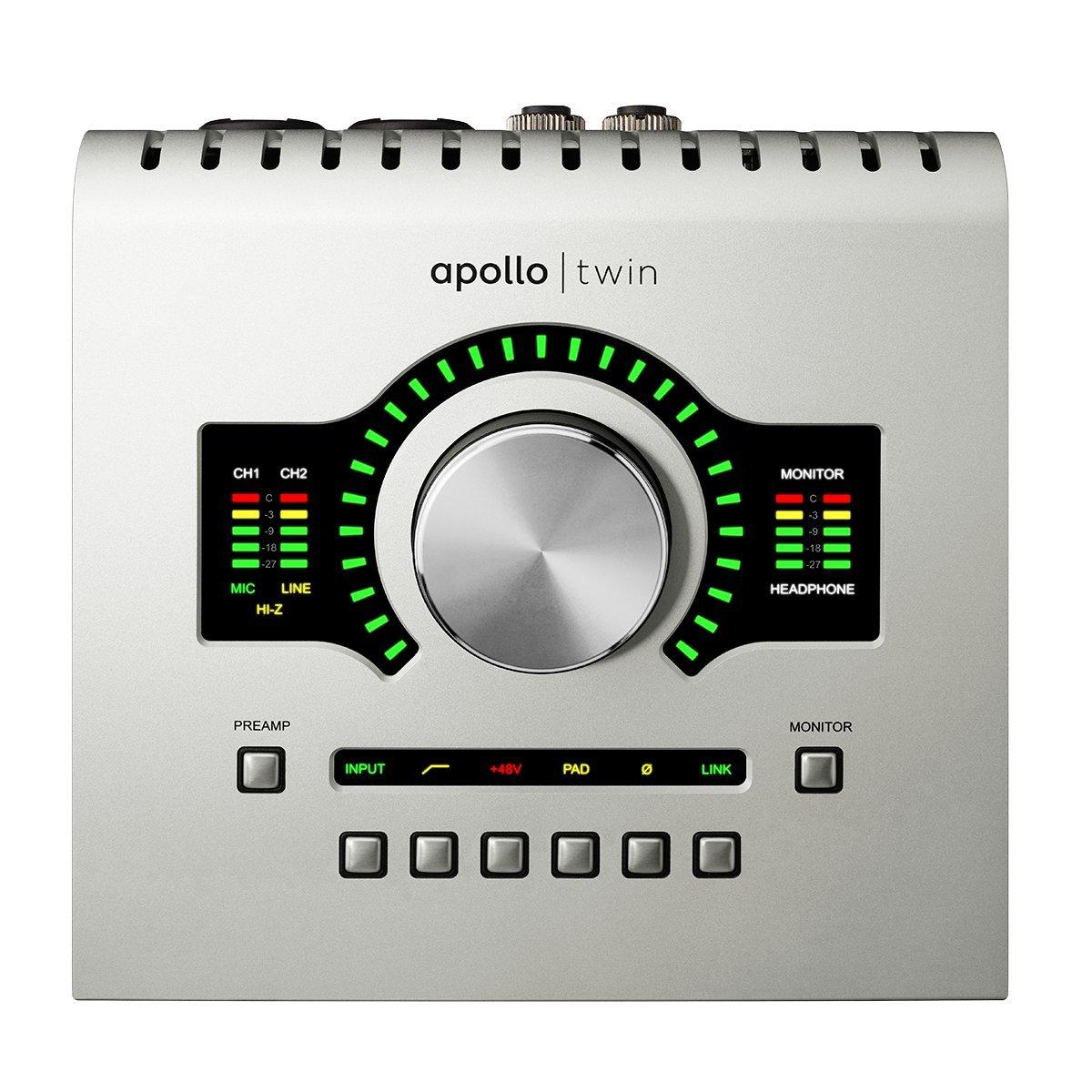 Universal Audio Apollo Twin USB アナログ2イン/6アウト USB対応オーディオインターフェイス【国内正規品】 USB、UADプラグイン処理用DSP*2  B015E054ZG