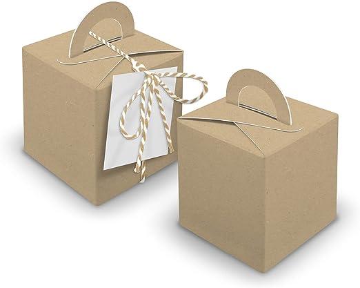 Itenga V29 - Cajas de 24 cajas de dados con mango marrón + ...