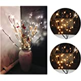Branch Lights, LED Floral Lights Battery Powered 20 Bulbs 30 Inches, for Home Party Garden Christmas Decor - Fenleo
