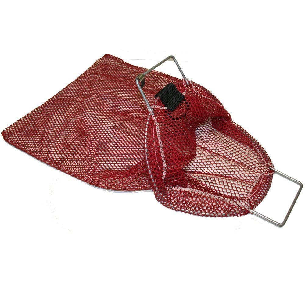 Lobster and Game 15-inch x 20-inch Red Performance Divers Nylon Scuba Dive Bag Net Bag for Clams Game Bag//Fish Bag for Diving /& Snorkeling Mesh Catch Bag w//Coated Galvanized Wire Handle and D-Ring Option