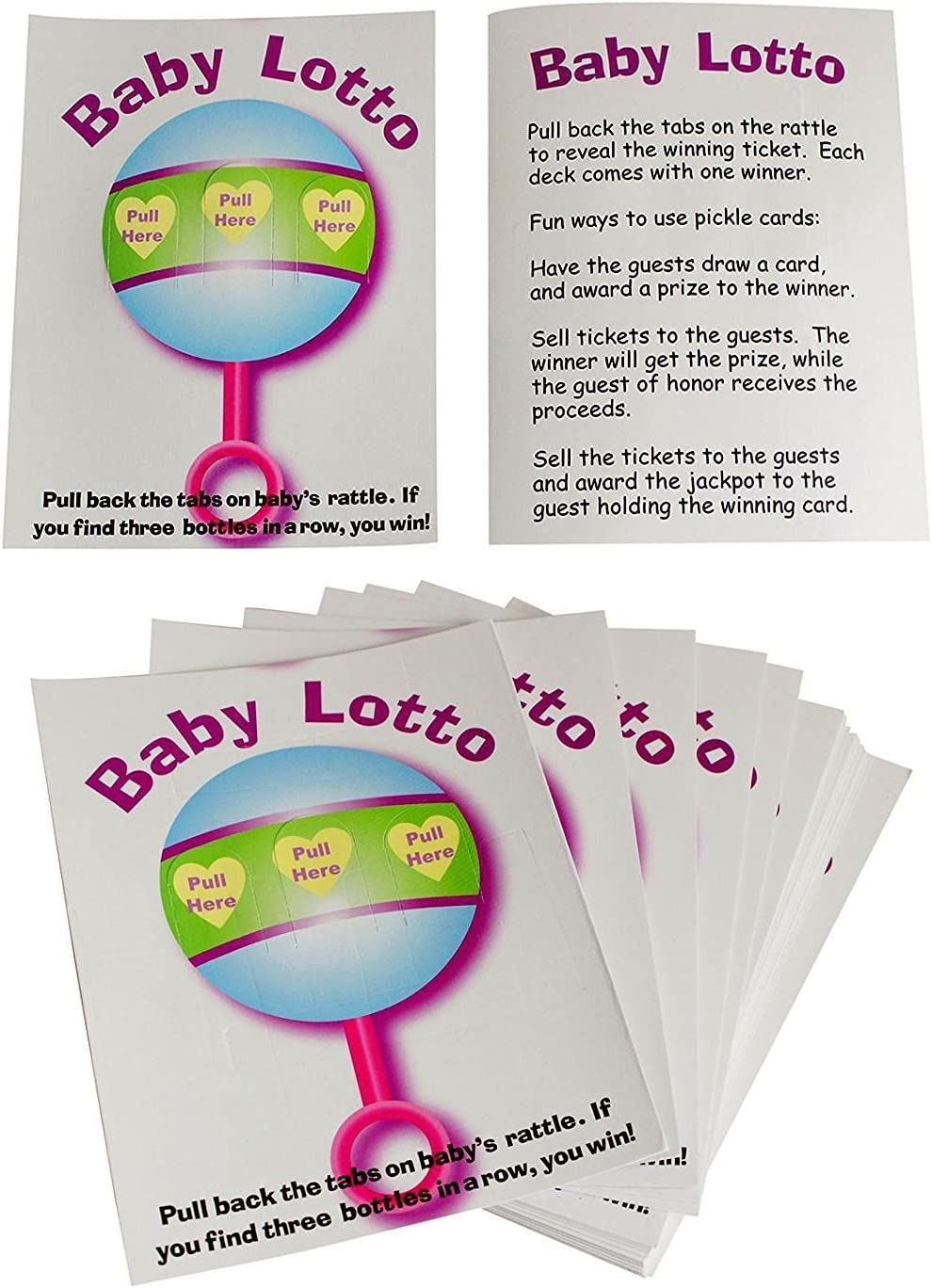 24 Pieces Fun Express Baby Shower Lotto Game Cards Free Shipping New