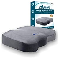 Office Chair Seat Cushion - Clinical Grade Orthopedic Firm Support Sitting Pillow Non-Slip Bottom - Coccyx & Sciatica Pain Relief Firm - 150 to 250lbs