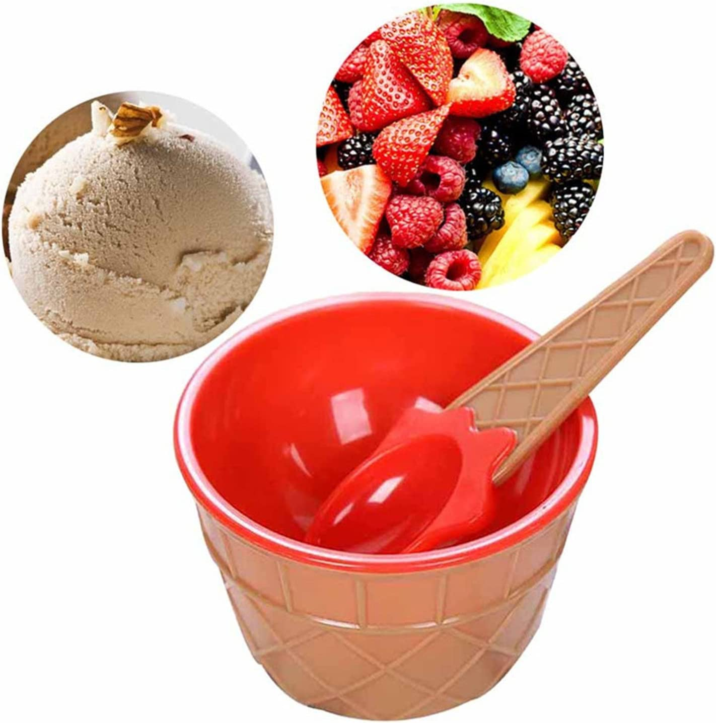 Lovely Kids Ice Cream Bowls Ice Cream Cup Couples Bowl Gifts Dessert A+