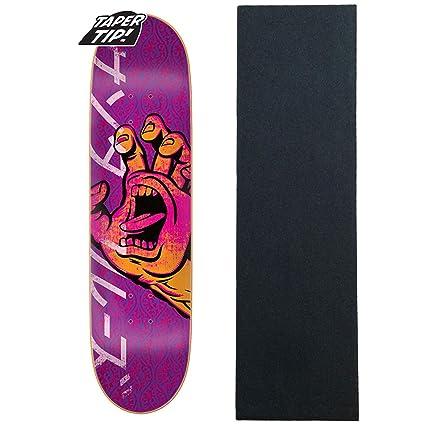 de0a1f3b85 Amazon.com : Santa Cruz Skateboard Deck Hando Taper Tip 8.0