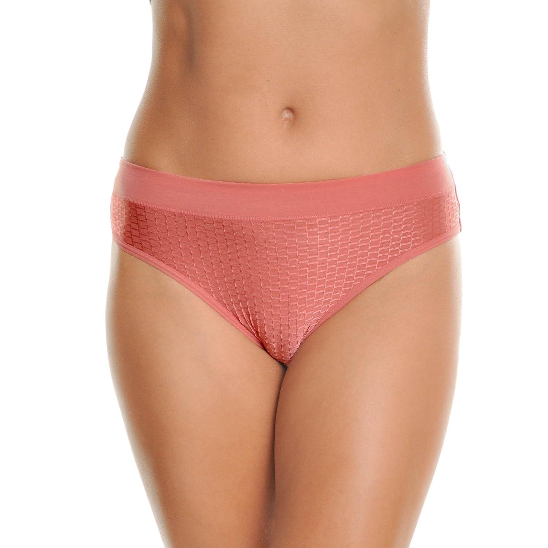 6pack Textured Design Angelina 6Pack Cotton Spandex Bikini