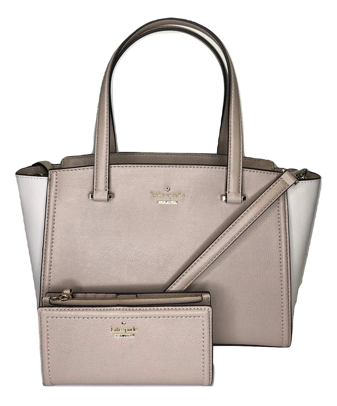 Kate Spade New York Patterson Drive Small Geraldine bundled with matching Kate Spade New York Patterson Drive Braylon Wallet (Warm Beige/Cement)