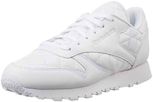 da3a0e421ad Reebok Classics Women s Cl Lthr Quilted White Leather Sneakers - 6 UK India  (39