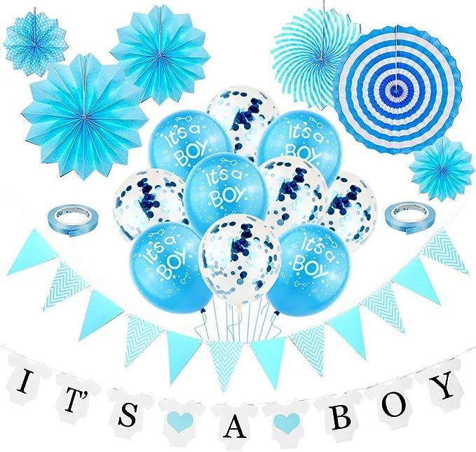 Revelación de Género,Baby Shower Chico,Baby Shower Globos Azules,Globo Papel Aluminio,Baby Shower Decoración Niño,Accessorios Baby Shower Niño,It's a Boy,Bienvenida de Bebe