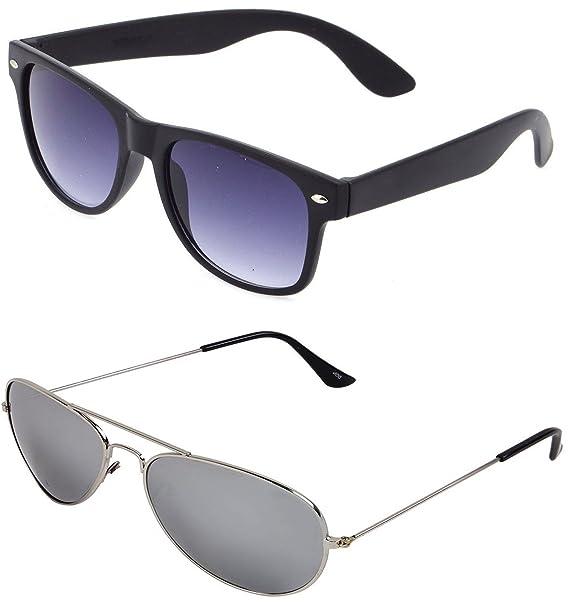 73e6b92ec5 Sheomy Combo Pack Of Mirrored Wayfarer Unisex Mercury Aviator Sunglasses ( Sun-052