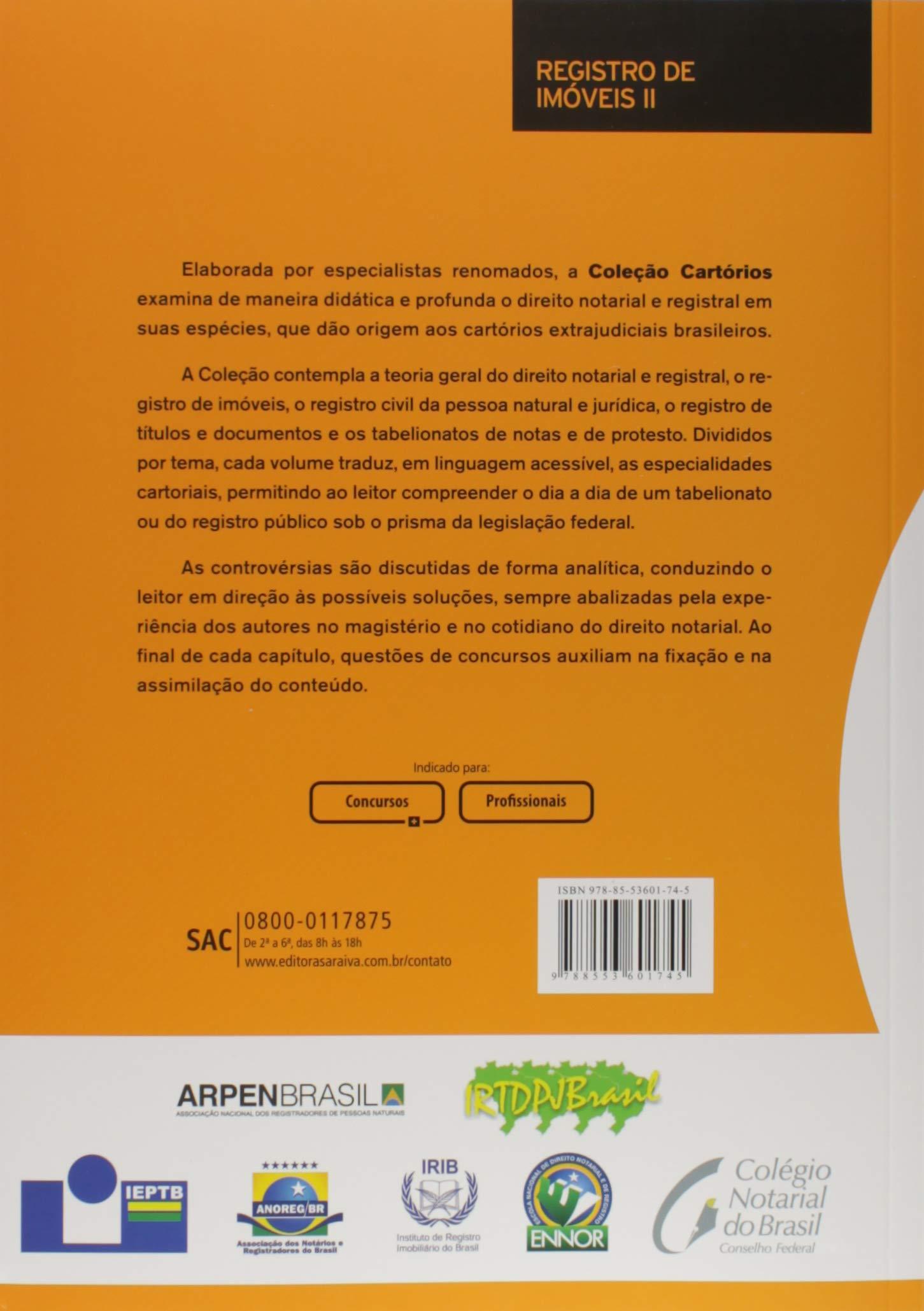 Col. Cartórios. Registro de Imóveis II. Atos Ordinários: Márcio Guerra Serra: 9788553601745: Amazon.com: Books