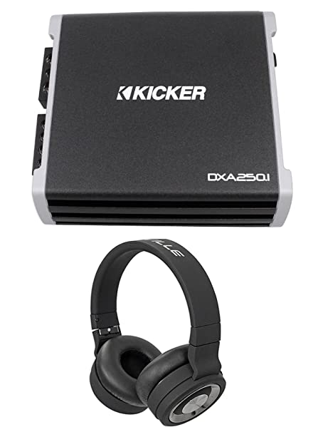 Kicker 43DXA2501 250 Watt RMS Mono Class D Car Amplifier Amp DXA250.1+Headphones