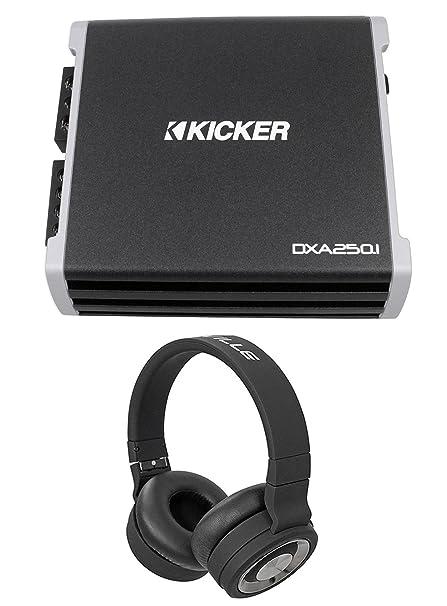 Kicker 43DXA2501 250 Watt RMS Mono Class D Car Amplifier Amp DXA250.1+Headphones