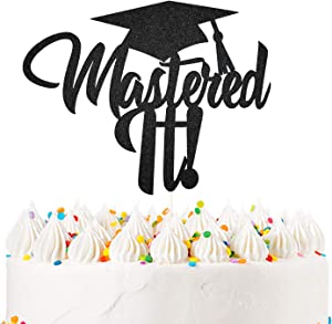 Mastered It Cake Topper 2020 High School Graduation Cake Decor College Graduation Party Decorations Supplies