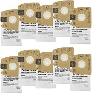 POWERTEC 75058 Eureka MM Vacuum Bags | Premium 2 Ply Eureka Canister Filter 60297a Bag Replacements – 10 Pack