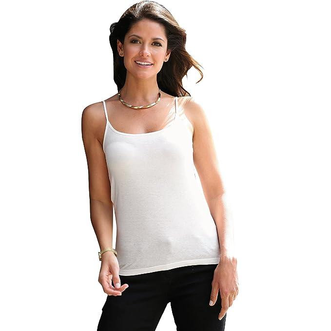 VENCA Camiseta Lisa de Tirantes by Vencastyle,Blanco,S