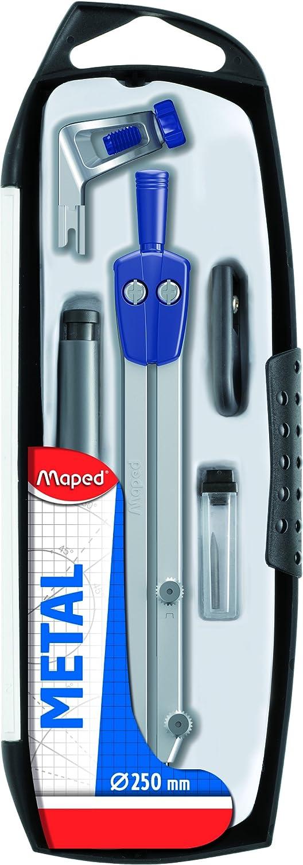 Maped - Estuche con compás y accesorios (5 piezas)