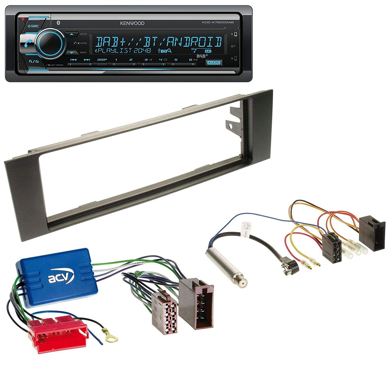 1-din 03-06 KENWOOD usb//aux//mp3 autoradio//radio-set pour Audi a3 8p//8pa