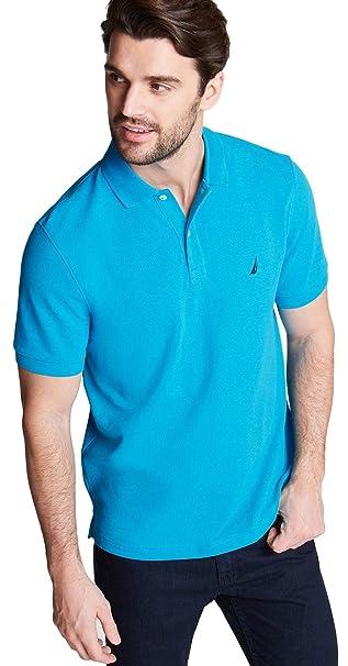Nautica Mens Short Sleeve Solid Polo Shirt, NoonBlue, XXL: Amazon ...
