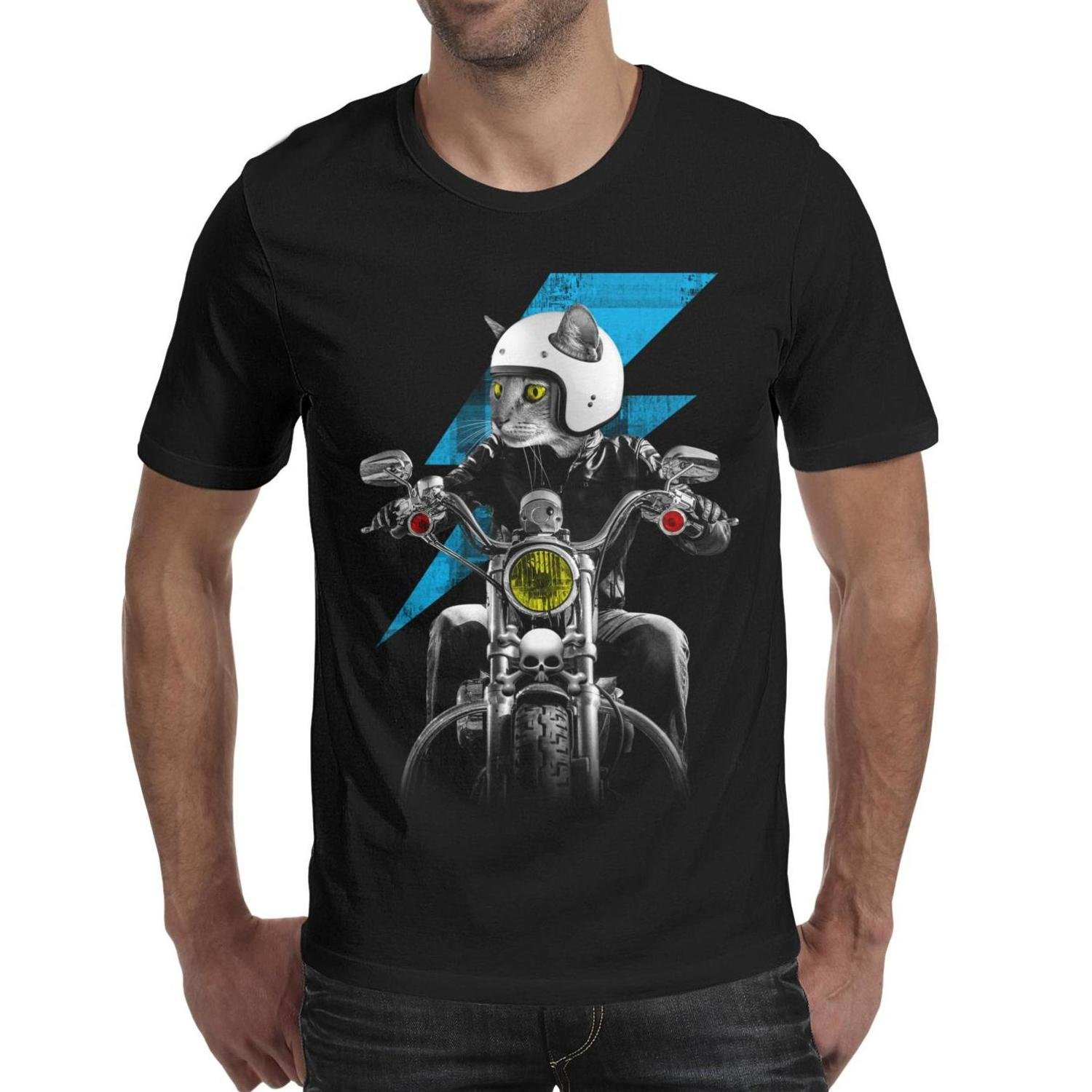 Cat Ride The Motorcycle Vintage T Shirts For 80s