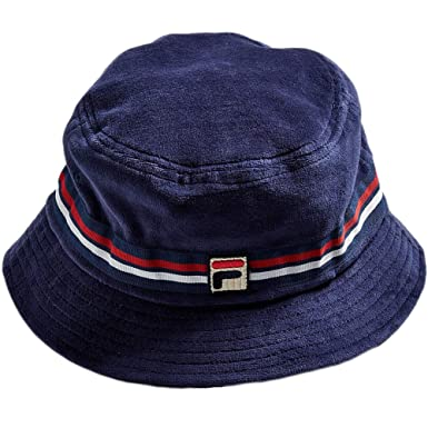 2c7458ff89602a Fila Men's Velour Bucket Hat, Navy, One Size at Amazon Men's Clothing store: