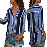 EOWEO Womens Casual Long Sleeve Color Block