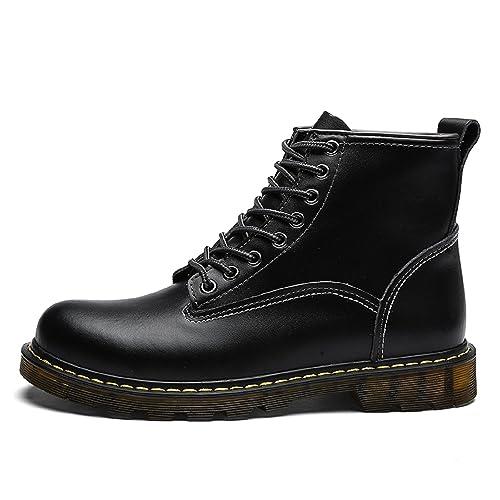 TQGOLD Botas de Hombre Otoño/Invierno Botines de Cuero: Amazon.es: Zapatos y complementos