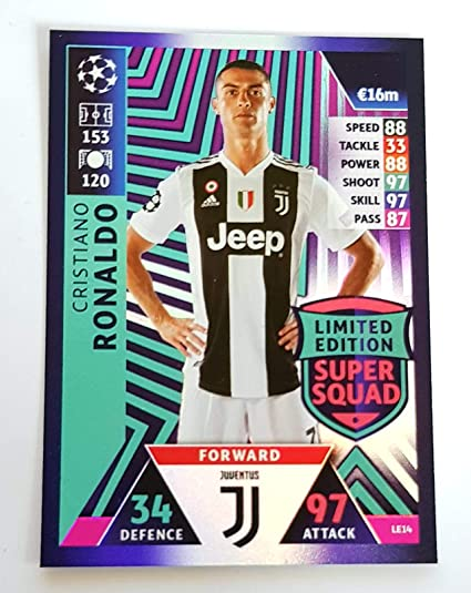 a34e5d651 Image Unavailable. Image not available for. Color  Match ATTAX Champions  League 18 19 Cristiano Ronaldo Limited Edition ...