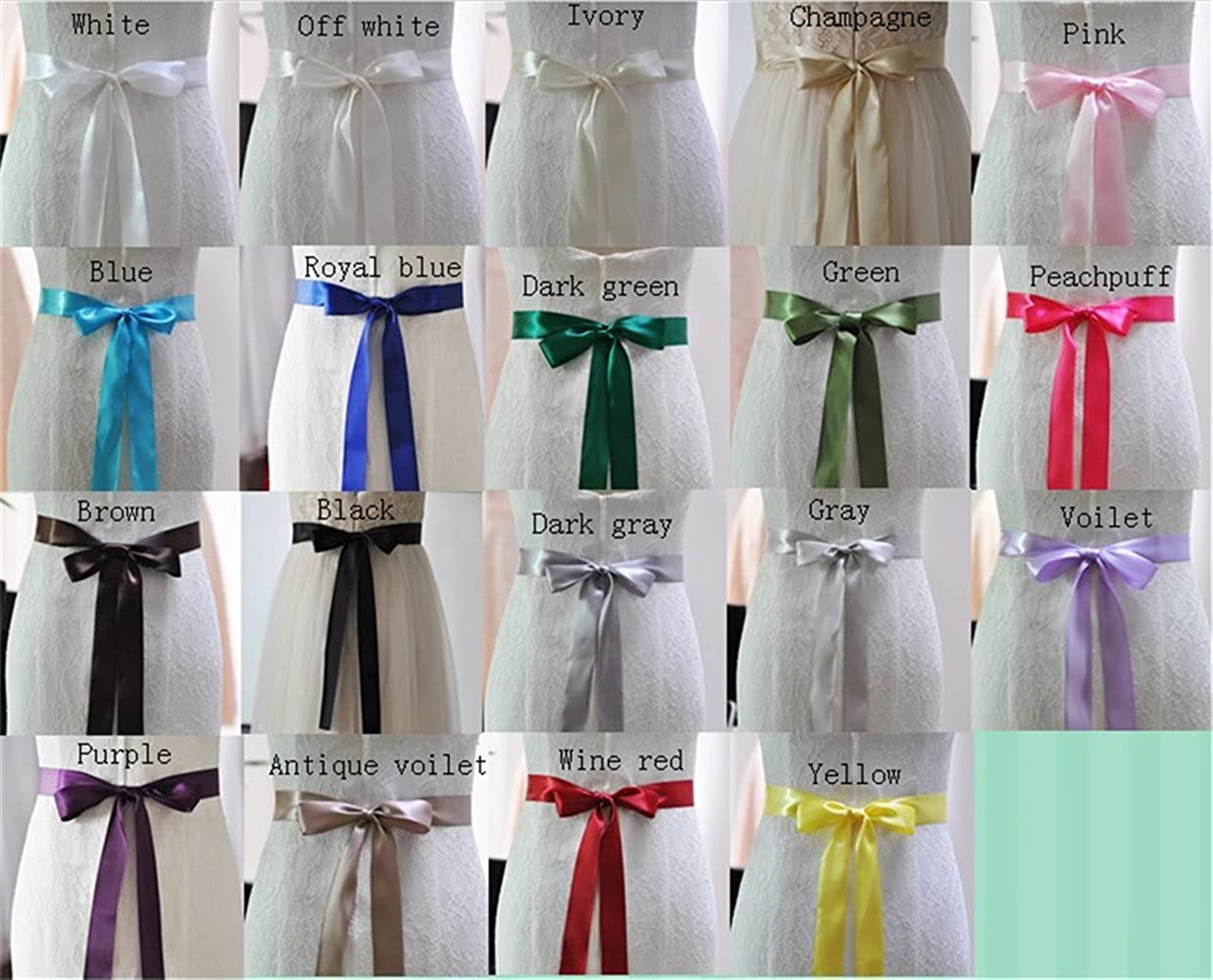 ULAPAN Womens Flowers Wedding Dress Belts Sash Pearls Bridal Belt Sashes