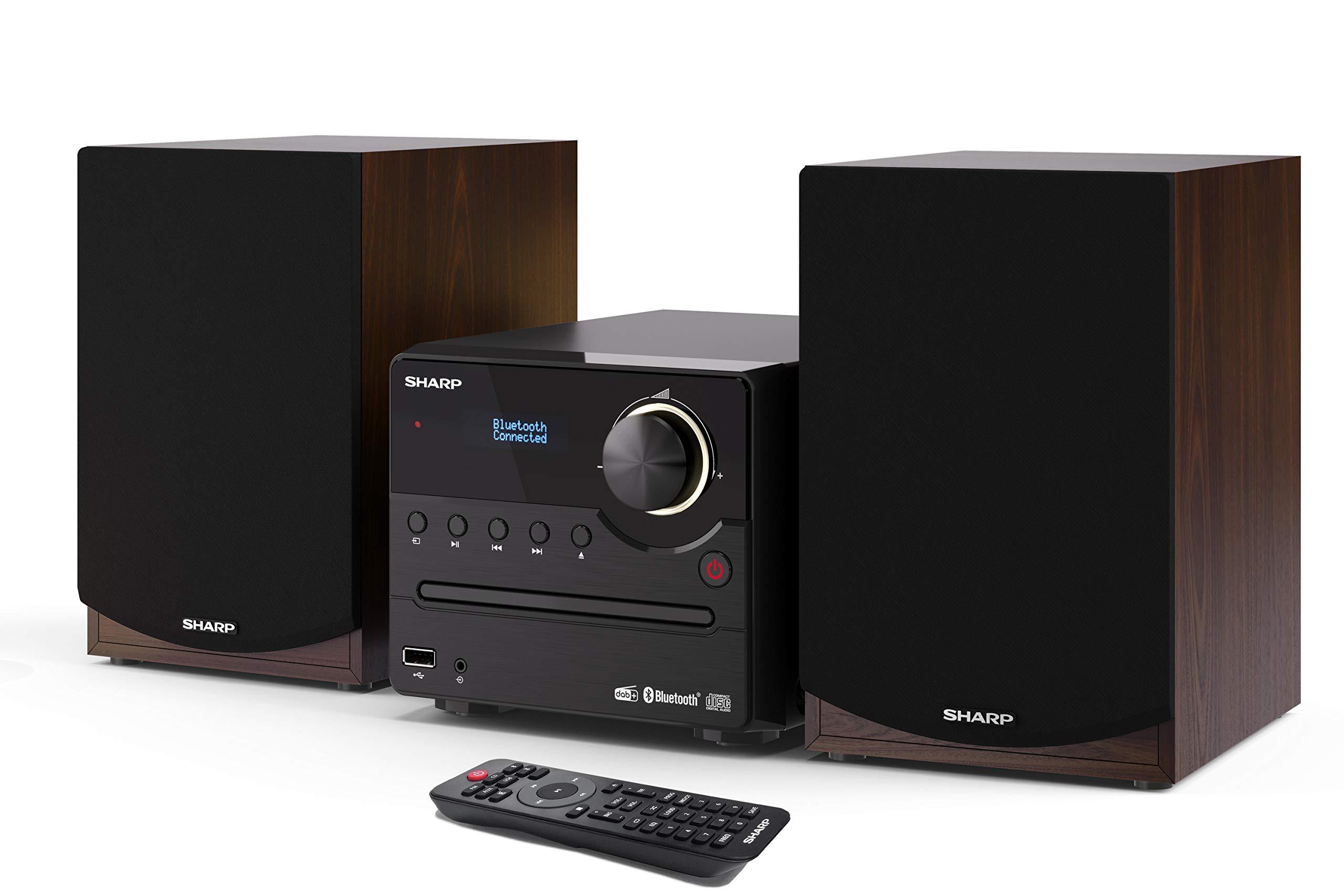 Immagine di SHARP XL-B517D(BR) Microcatena Sound System Stereo con radio DAB, DAB+, FM, Bluetooth, CD-MP3, riproduzione USB, altoparlanti in legno e 45 W colore marrone marrone 45 Vatios XL-B5 - B08WGMNBKY