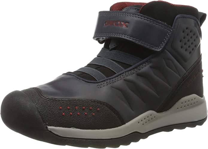 Geox J TERAM BOY B ABX A Ankle Boots, Blue (Navy/Dk Red C4244), 13 UK,Geox,J94AEA0ME15
