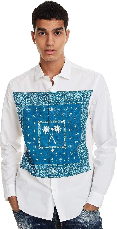 Desigual - Camisa Banda Hombre Color: 1000 Talla: Size M: Amazon.es: Ropa y accesorios