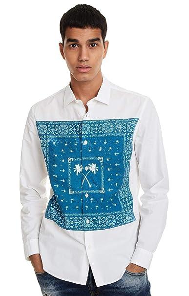 Desigual - Camisa Banda Hombre Color: 1000 Talla: Size M: Amazon ...