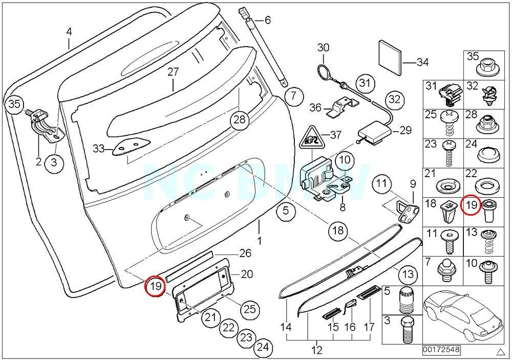Amazon Com Bmw Genuine Plug In Nut Automotive